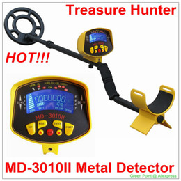 Wholesale Gold Detector Scanner - Wholesale-New Arrival Underground Super Scanner Metal Detector Gold Digger Treasure Hunter MD3010II with Yellow   Black  Golden color