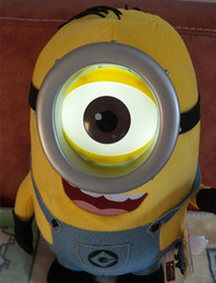 Wholesale Despicable Talking - Wholesale-Newest doll!!! Despicable Me 2 minion stuffed toys 23 Inch Big minion toys Can Talk and 3D eyes light up Best Gift for children