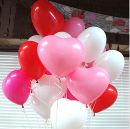 Wholesale-Free shipping 1.5g Thick Latex Heart Balloon birthday party inflatable balloons wedding arch for decorations baloon globos
