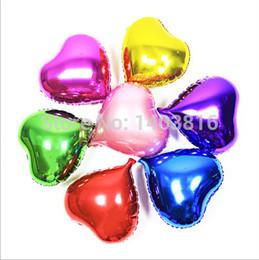 Wholesale High Pa - Wholesale-metallic baloons heart foil balloon 20pcs Wedding Decoration Party Supplies helium balloon mylar ballon high quality air balls