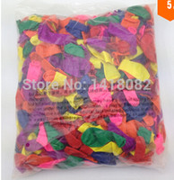 Wholesale Small Round Balloons - Wholesale-500piece  lot No3 small balloons Water polo round Multicolor100% latex balloon free shipping wedding party Toy balloons