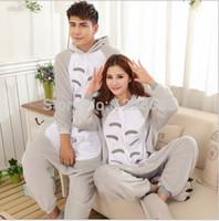 Wholesale Couples Onesies - Women Men Adult Cute Warm Fleece Animal Onesies Totoro Pajamas Pyjama Pijamas Couples Onesie Pajamas Totoro Onesietoycity