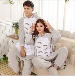 Wholesale Couple S Pajamas - Women Men Adult Cute Warm Fleece Animal Onesies Totoro Pajamas Pyjama Pijamas Couples Onesie Pajamas Totoro Onesietoycity