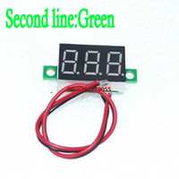 Wholesale-10pcs / lot Grün Zweite Zeile Präzision dc Digitalvoltmeter Kopf LED-Digitalvoltmeter DC2.50 0,36 V - 32,0 V