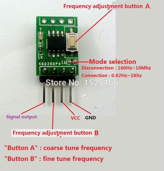 Wholesale-0.02H-10Mhz Einstellbare Rechteckimpuls-Signal-Generator-Modul ersetzen MCU LM358 CD4017 NE555 PWM AD9850 AD9851 DDS-Controller