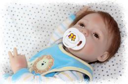 "Free Silicone Reborn Babies Canada - Wholesale-21"" Reborn Baby dolls Handmade Silicone Baby Boy Dolls Lifelike Baby Doll Bonecas Bebe Reborn Baby Child Gift Free Shipping"