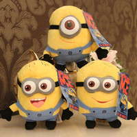 Wholesale Despicable Plush 7inch - Wholesale-High Quality Cute Despicable Me Plush Toys 18cm 7inch Minions Small Dolls With 3D Eyes Birthday Gift Dave Stuart Stewart