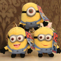 Wholesale Despicable Minion Stuart - Wholesale-High Quality Cute Despicable Me Plush Toys 18cm 7inch Minions Small Dolls With 3D Eyes Birthday Gift Dave Stuart Stewart