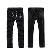 Wholesale Thicker Sport Pants - Wholesale-Winter New arrival Gummizug In Der Taille Thicker Sport Pant Casual Cotton Large Yard Men Long Trousers Free Shipping MKY029