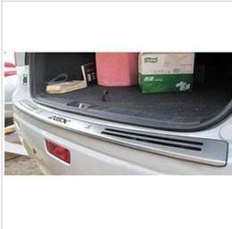 Wholesale Stainless Steel Rear Bumper Protector - Wholesale-2010-2015 Mitsubishi ASX High quality stainless steel Rear bumper Protector Sill