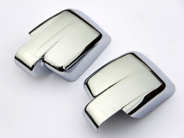 accessories chrome Promo Codes - Wholesale-Accessories FIT FOR 2007-2011 DODGE NITRO DOOR SIDE WING MIRROR CHROME COVER CREAR VIEW TRIM