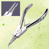 Wholesale Body Piercing Pliers Tool - Wholesale-EQ8874 Ear Tongue Navel Septum Nose Lip Stainless Plier Clamp Body Piercing Tool