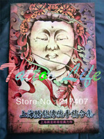 Wholesale Tattoo Book Flash Dragons - Wholesale-Free Shipping 2015 New Japanese Style Tattoo Flash Reference Book Hannya Skull Ghost Buddha Flower Dragon Outer Contour Line