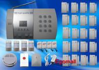 hırsız hırsız alarm sistemi toptan satış-Toptan-20 Kapı / Pencere Dedektörü Ev Güvenlik Alarm Sistemi Seti Otomatik Hırsız Hırsız Alarm Sistemleri S216 Dial
