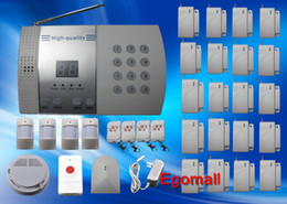 Wholesale Intruder Burglar Alarms - Wholesale-20 Door Window Detector Home Security Alarm System Kit Auto Dial Burglar Intruder Alarm Systems S216