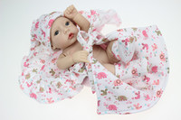Wholesale-Lifelike Realistic Baby Doll Very Soft Silicone Vinyl 12inch handmade reborn girl toy