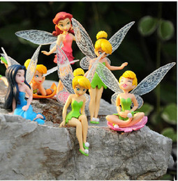 Wholesale Tinker Bell Free Shipping - Wholesale-Free shipping High Quality PVC (6pcs set) Tinkerbell Fairy Adorable tinker bell Figures toy doll Puppe boneca poupee bambola