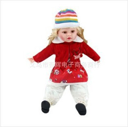 Wholesale Dolls 18inch - Wholesale-Fashion music Doll toy baby toy 18inch have 18 kinds of cloth can choose Chirstmas gift toy 1pcs free shipping