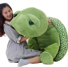 Wholesale Stuffed Green Turtle - Free shipping small 25cm plush animals tortoise pp cotton cute stuffed green sea turtle big eyes pillow toys baby lovers giftstoycity