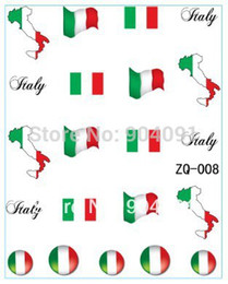 Italy Art NZ - Wholesale-HOTSALE 20sheet LOT Italy Flag World Cup WATER DECAL NAIL ART Accessories Football Serie Nail Tattoo,22 Different design