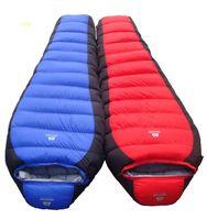 sac de couchage momie extérieur achat en gros de-Vente en gros - 15 degrés d'hiver en plein air sac de couchage momie Type Duck Down hiver épaississement duvet sac de couchage -25 degrés