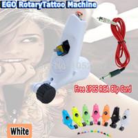 Wholesale Rotary Tattoo Machine Rca - Wholesale-Ego Tattoo Machine Rotary Tattoo Motor Machine Gun Liner Shader Tattoo Kits tattoo artists Free 1pcs RCA Clip Cord Free Shipping