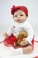 Unisex Birth-12 months Vinyl Wholesale- 22 Inches 55CM Lovely Silicone Reborn Baby Dolls Realistic Hobbies Handmade Baby Alive Doll For Girls Safe Classic Toys