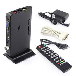 Wholesale External Tv Receiver - Wholesale-External LCD VGA TV PC Box Analog Program Receiver Tuner HDTV 1900*1200 Free Shipping