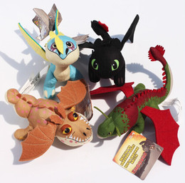 Wholesale Toothless Dragon Plush Toy - Wholesale-Retail 1pcs How To Train Your Dragon 2 Night Fury Toothless Gronckle Boneknapper Dragon Deadly Madder Plush Dolls Toys 17-27cm