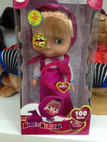 Wholesale Russian Talking Doll Masha - Wholesale-Masha And The Bear Doll Walking and Talking Cute Intelligent Dialogue Masha With Alive Eyes Russian Plush ToysBaby Juguetes