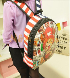 Wholesale One Piece Cosplay Chopper - Wholesale-NEW Anime One piece Cool Tony Tony Chopper Cosplay Fashion Backpack Bag School bag Boy or Girl Gift Free shipping
