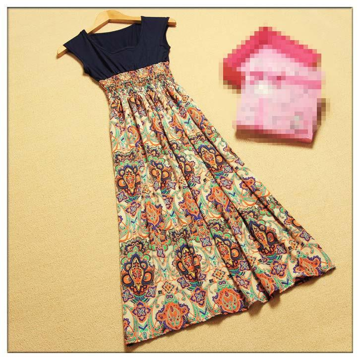 5c4fc2c3dfe34 2015 Vintage Fashion Tribal Boho Hippie India Long Beach Casual Dress Maix  Dress Casual Dresses 2015 Dress Cheap Online with  15.43 Piece on Huoxiang s  ...