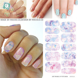Wholesale Nails Film - Wholesale- K5711B Water Transfer Foil Nails Sticker Pink Flower Design Nails Stickers Manicure Styling Tools Water Film Paper Decals