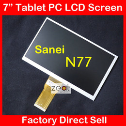 Wholesale N77 Screen - Wholesale-Free shipping 7inch 50pin LCD for Sanei N77 fashion version ,elite version, AMPE A76 Tablet display screen,7300101466 E231732