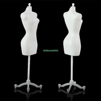 Wholesale Clothes Display Doll - Wholesale-5pcs detachable mannequin clothes dress display stand for cute barbie doll ES1129