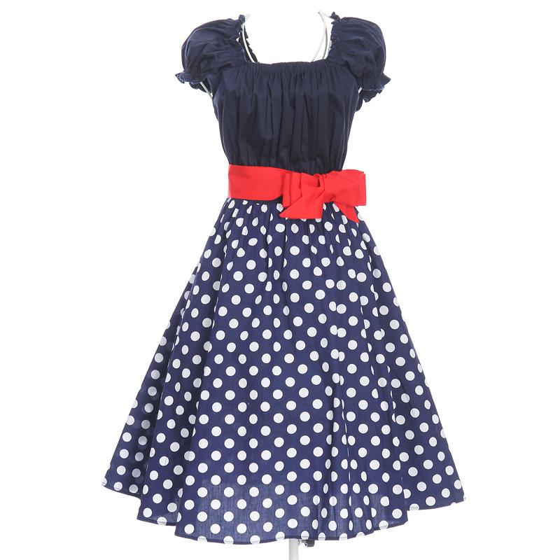 31b833d6f9382 Wholesale Plus Size Clothing Retro Inspired 50s Style Swing Dancing Full  Circle Pin Up Dresses Polka Dots New Spring Fast Knit Dresses For Women  Dress ...