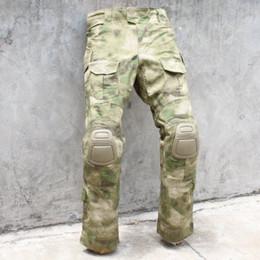 Wholesale Fg Military - Wholesale-Tactical bdu G3 Combat Pants BDU Military Army Pants A-TACS FG Knee Pads