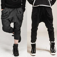 Wholesale Mens Dance Drop Crotch Pants - Wholesale-2015 Bandana Pants Men Baggy Hip Hop Dance Sarouel Harem Sweatpants Brand Drop Crotch Pant Parkour Trousers Mens Sports Pants