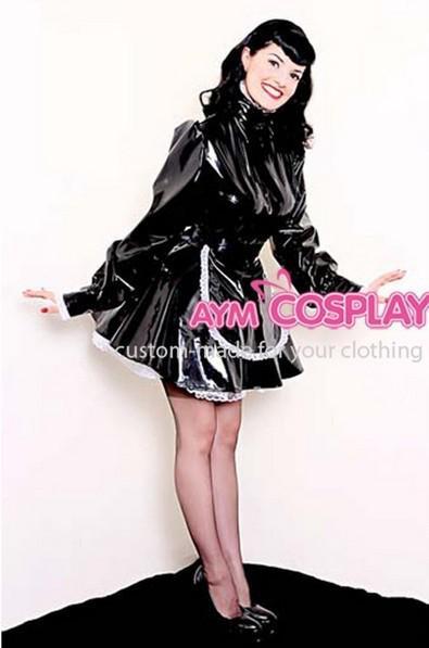 New Arrival Sissy Maid Dress Lockable Pvc Dress Maid
