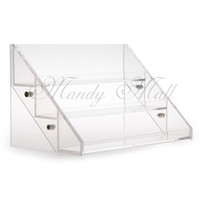 Wholesale Clear Acrylic Nail Rack - Wholesale-Clear Acrylic Cosmetic Makeup Nail Polish Varnish Display Stand Rack 3 Tiers