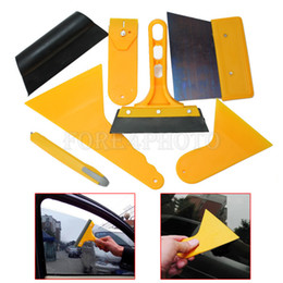 Wholesale Vinyl Wrap Windshield - 7Pcs Car Auto Window Scraper Wrapping Tint Vinyl Film Squeegee Cleaning Tool Kit
