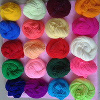 Wholesale Nylon Flowers Stocking - Wholesale-Multicolor special DIY flower material nylon stocking material home decor for DIY flower 30pcs lot