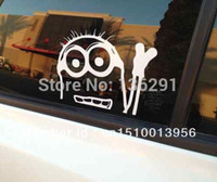 DIY-Despicable Me Minion Sticker Decal Vinyl Car Drift-Rennen Gucken Tragen JDM