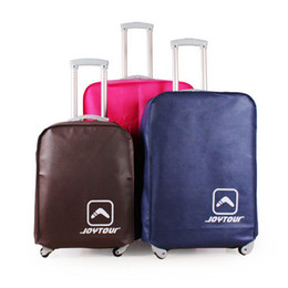 Wholesale Cover Luggage - Wholesale-Luggage Cover Nonwoven Luggage Protector Suitcase Cover Waterproof Dustproof Scratch-resistant Rose Blue Coffee 22