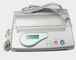 Wholesale Thermal Machine Usb - Wholesale-2015 Hot Sale Best LCD Silver USB Tattoo Thermal Transfer Copier Stencil Machine Tattoo Supplies Free DHL Shipping