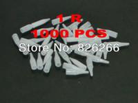 Wholesale Makeup Tips Color - Wholesale-Permanent Makeup DISPOSABLE TIPS White Color 1R 1000Pcs