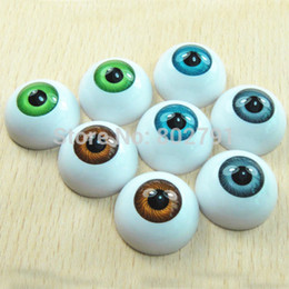 Wholesale Eyes Dolls Acrylic - Wholesale-8PCS Half Round Acrylic Doll Bear Craft Plastic Eyes Eyeball DIY 26mm