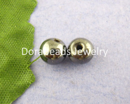 Wholesale Hematite 6mm - Free Shipping! 100 PCs Round Magnetic Hematite Spacers Beads 6mm dia. (B00133)
