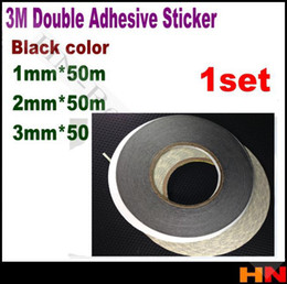 Wholesale 2mm Double Sided Tape - Wholesale-1set = 3pcs 1mm 2mm 3mm   width Mobilephone LCD  Touch Display  Screen  Panel Repair Double Sided Adhesive 3M Black 9448 Tape