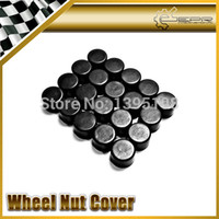 Wholesale 21 Wheels - Wholesale-Hottest Car Styling Free Shipping 20pcs Silica Gel Black Wheel Nuts Covers Protective Bolt Caps Hub Screw Protector 17# 19# 21#